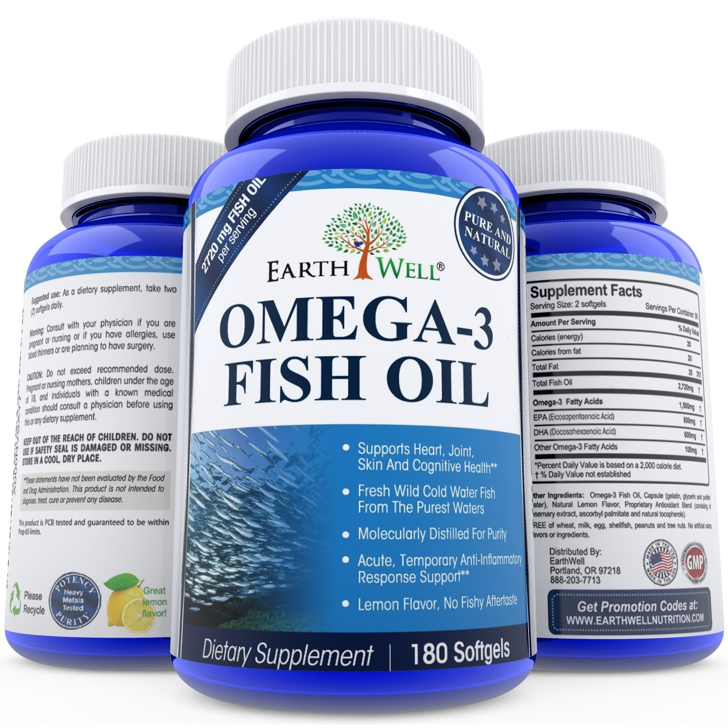 Product review lemon flavored omega 3 fish oil supplement for Benefits of fish oil omega 3