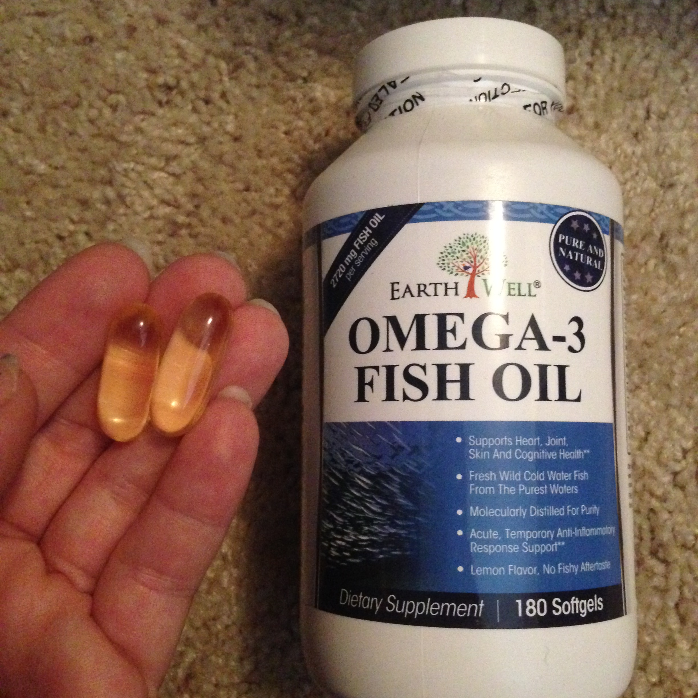 Product review lemon flavored omega 3 fish oil supplement for Omega 3 fish oil reviews